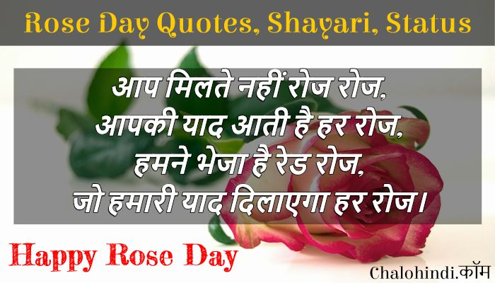 Rose Day Quotes in Hindi